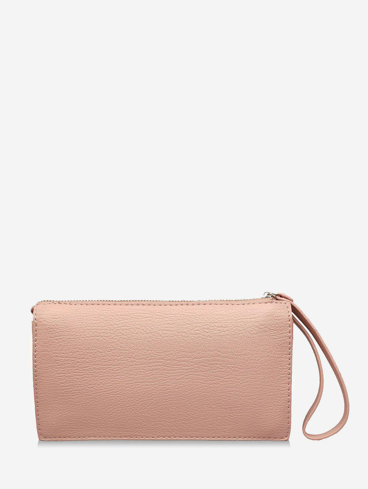Fancy PU Leather Minimalist Wristlet