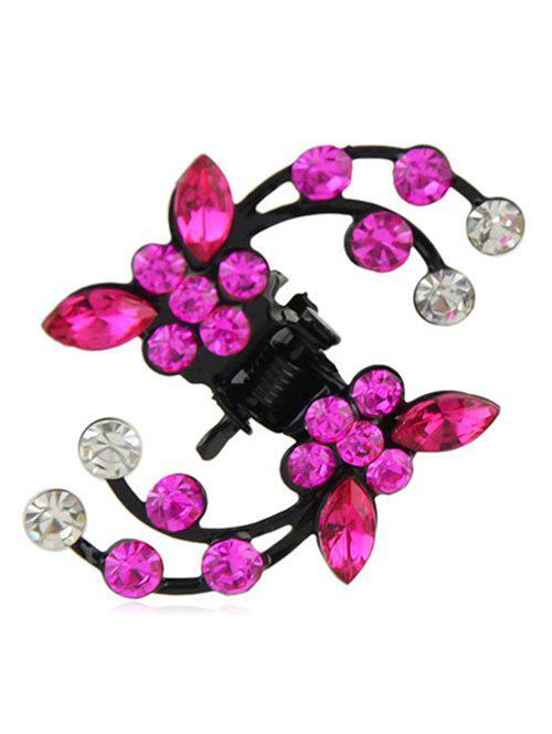 Fancy Rhinestone Flower Design Hair Clip Claw