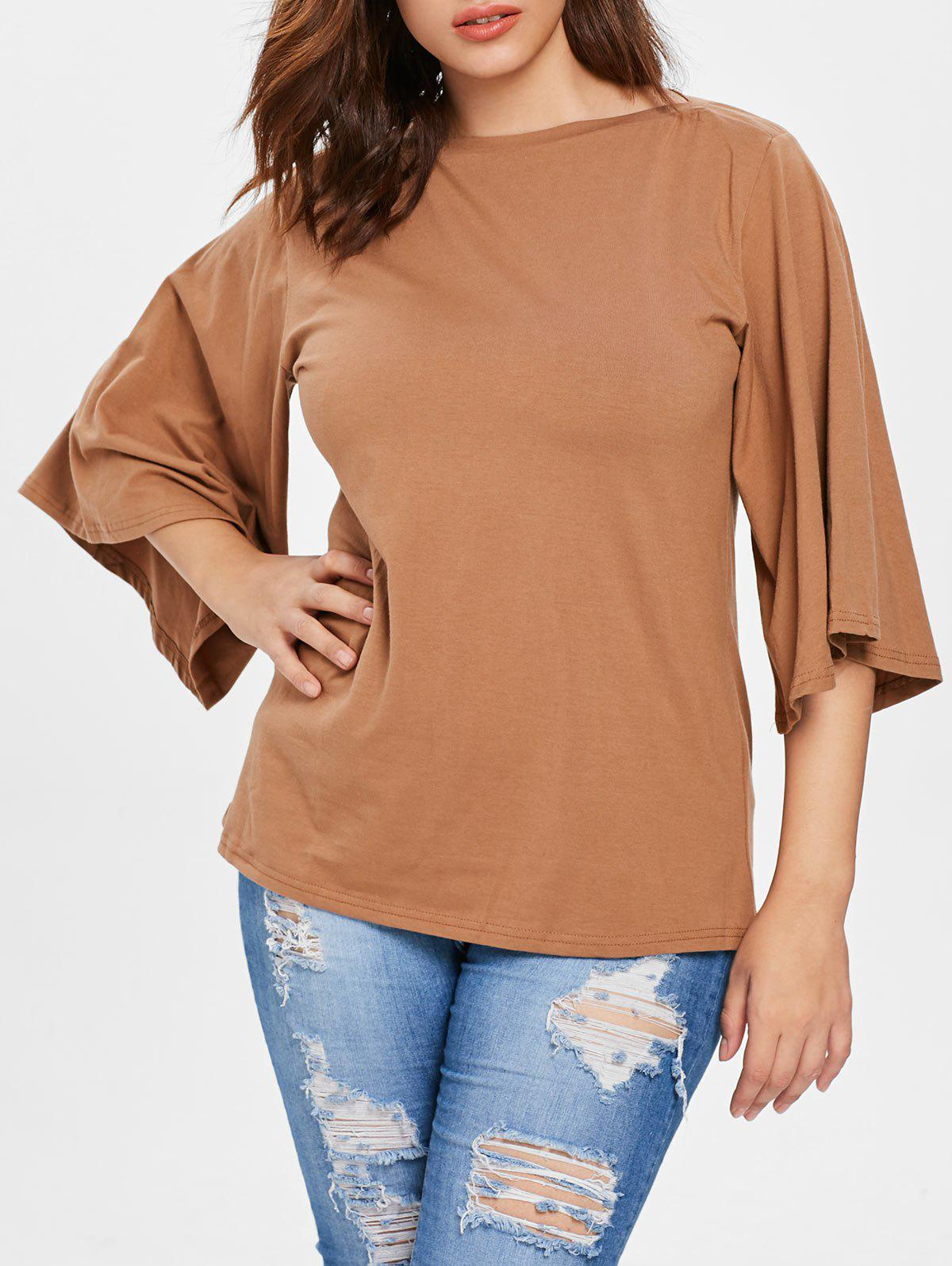 Store Plus Size Flutter Sleeve T-shirt