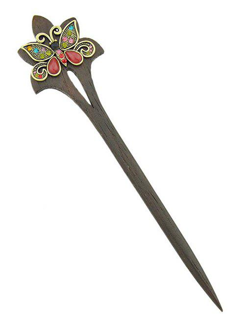 Store Vintage Artificial Butterfly Design Hair Stick