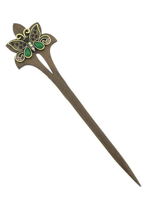 Unique Vintage Artificial Butterfly Design Hair Stick