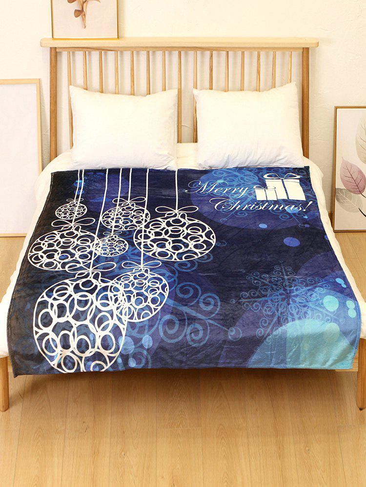 Trendy Merry Christmas Gift Printed Flannel Soft Blanket