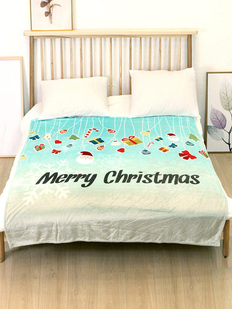 Best Merry Christmas Theme Printed Flannel Bed Blanket