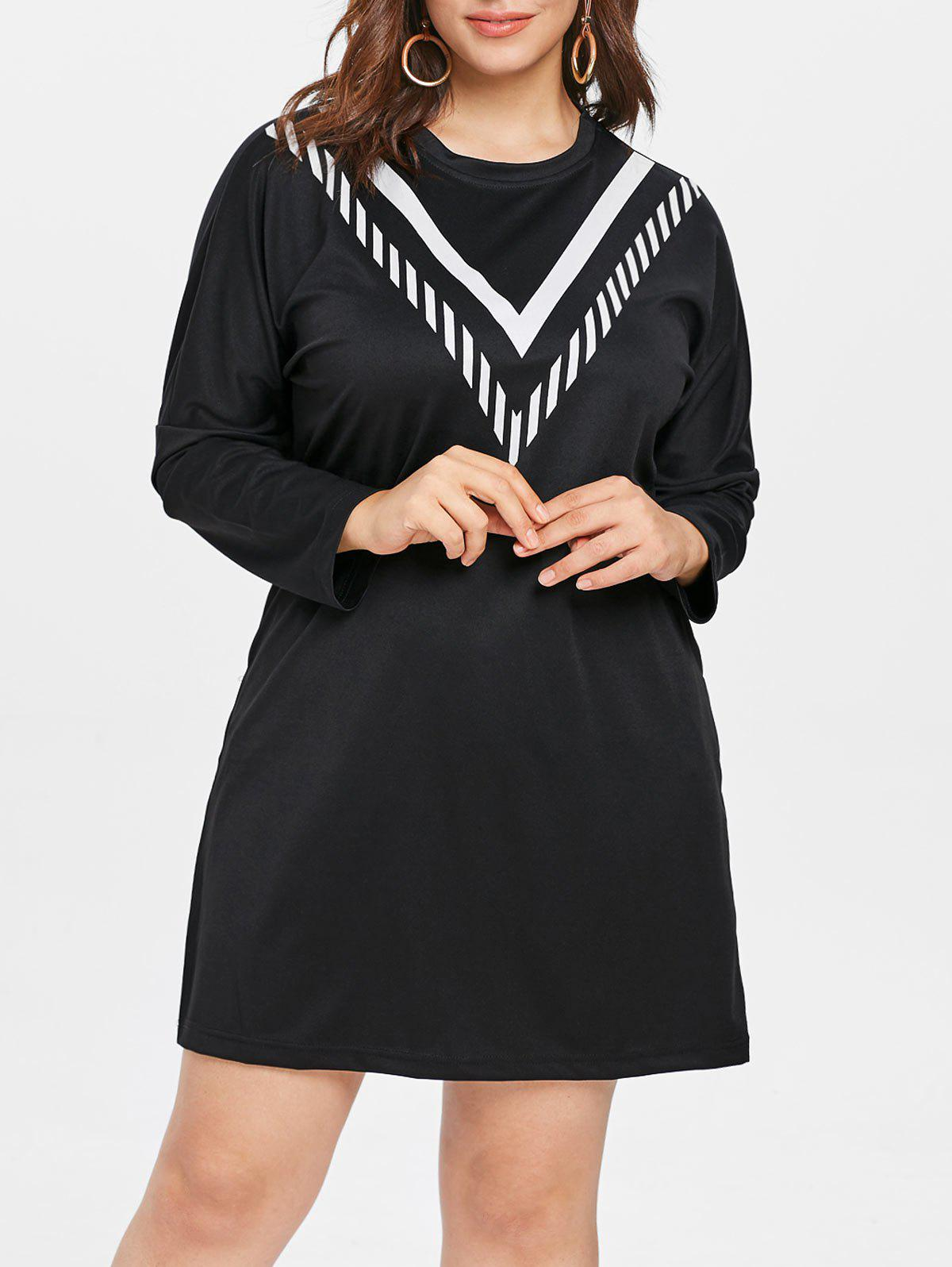 Chic Plus Size Casual Long Sleeve Dress