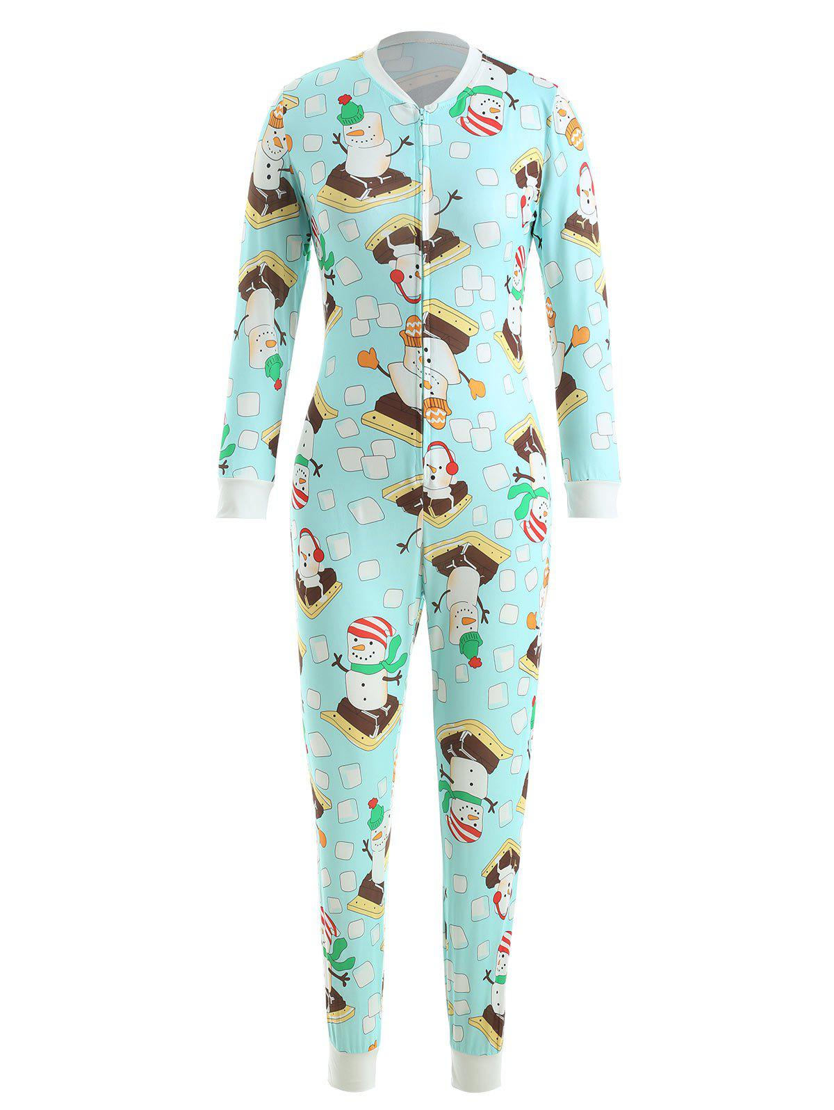 Outfit Christmas Print Long Sleeve Jumpsuit