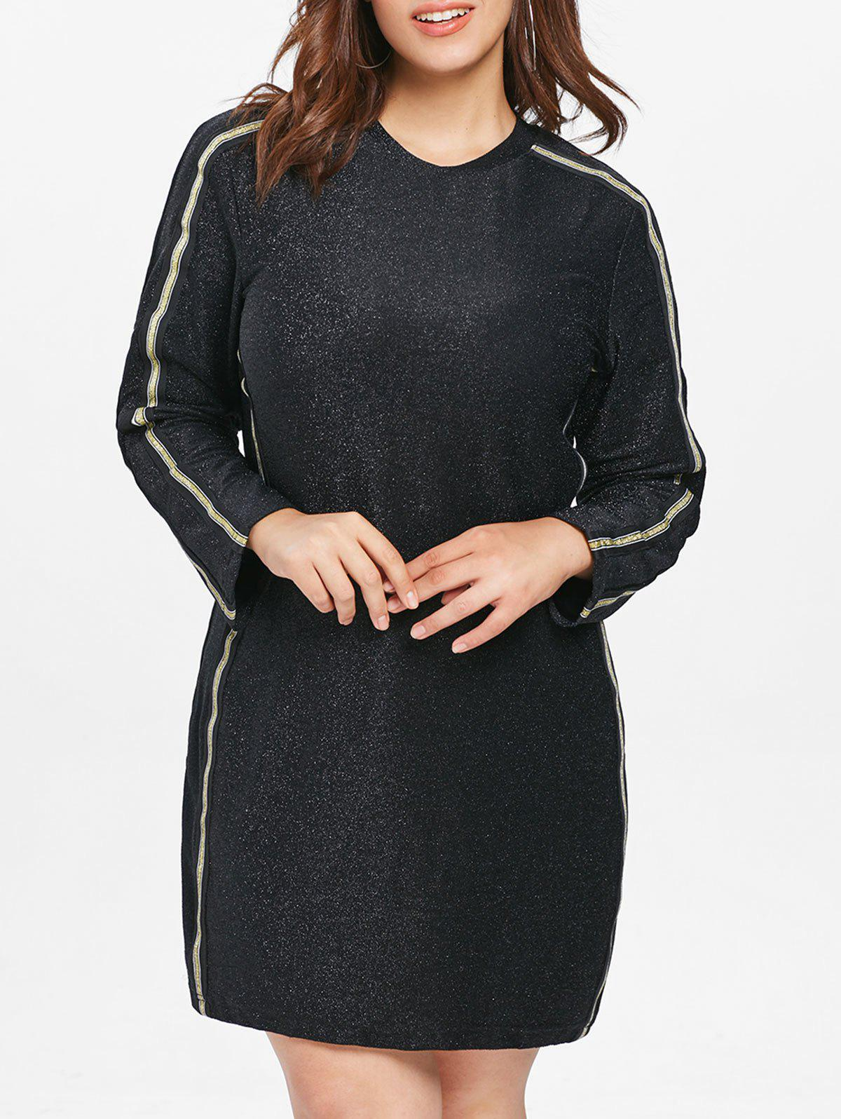 Hot Plus Size Glitter Short Casual Dress