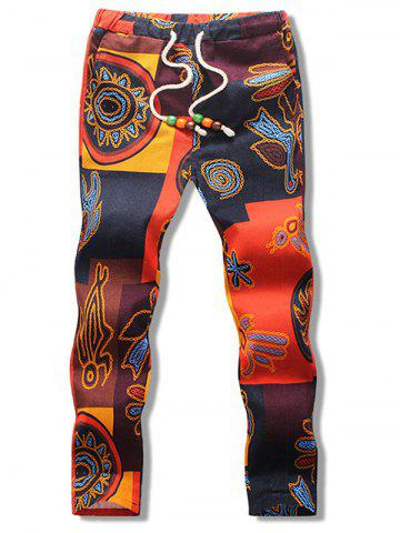 Abstract Print Nine Minutes of Pants