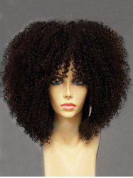 Long Side Bang Shaggy Afro Curly Synthetic Wig -