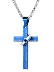 Statement Cross Ring Alloy Pendant Necklace -