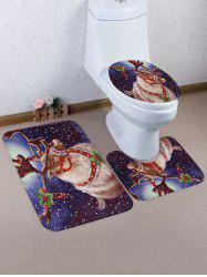 Christmas Elk Printed Toilet Mat Set -