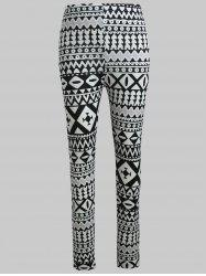 Geometric Graphic Stretch Pants -