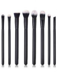 8Pcs Ultra Soft Fiber Hair Eyeshadow Blending Eye Makeup Brush Set -