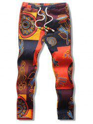 Abstract Print Nine Minutes of Pants -