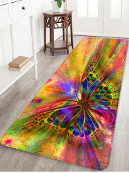 Colorful Butterfly Printed Skidproof Area Rug -