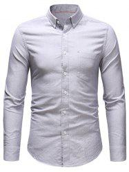 Solid Long Sleeve Casual Shirt -