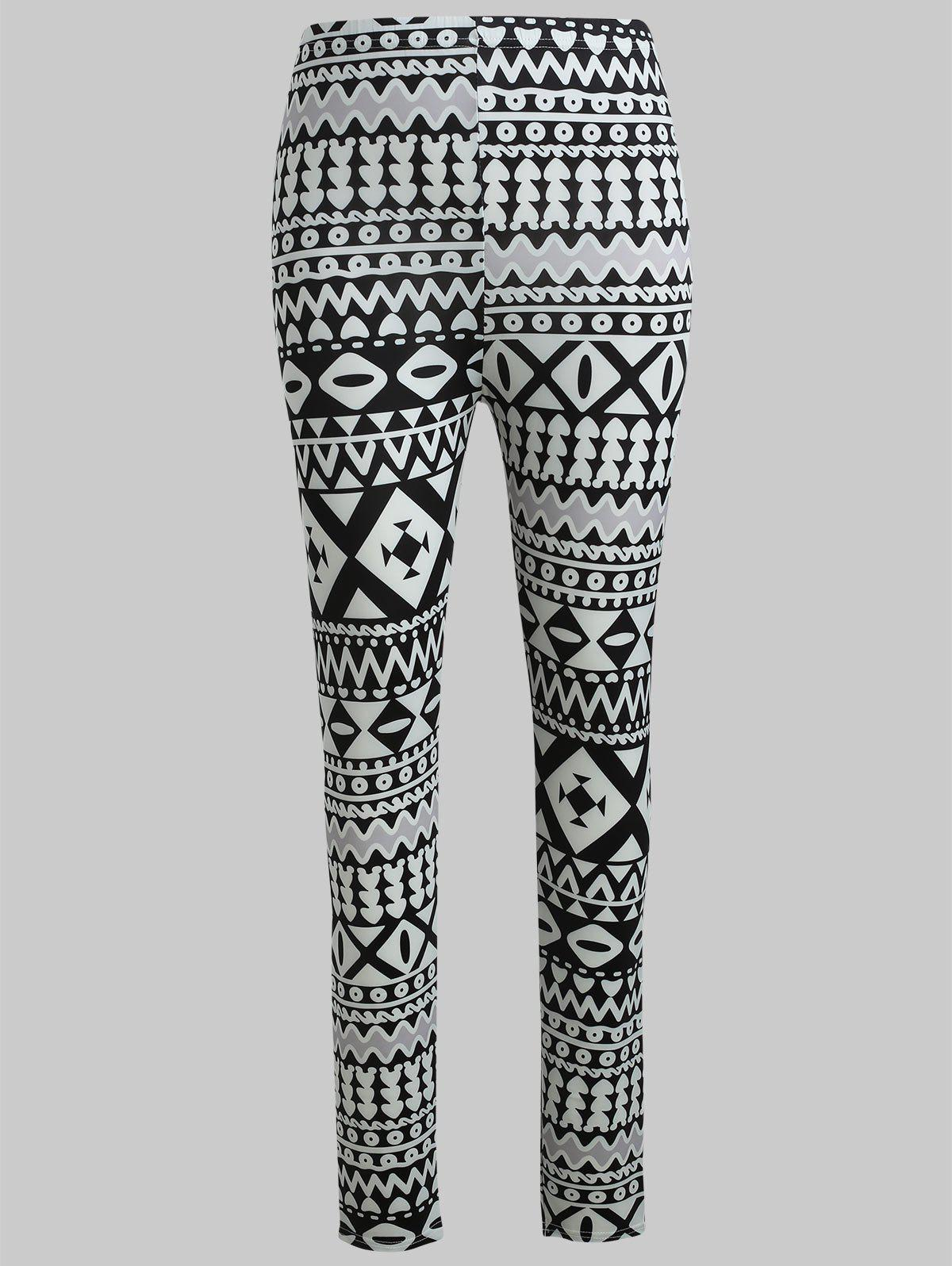 Fashion Geometric Graphic Stretch Pants