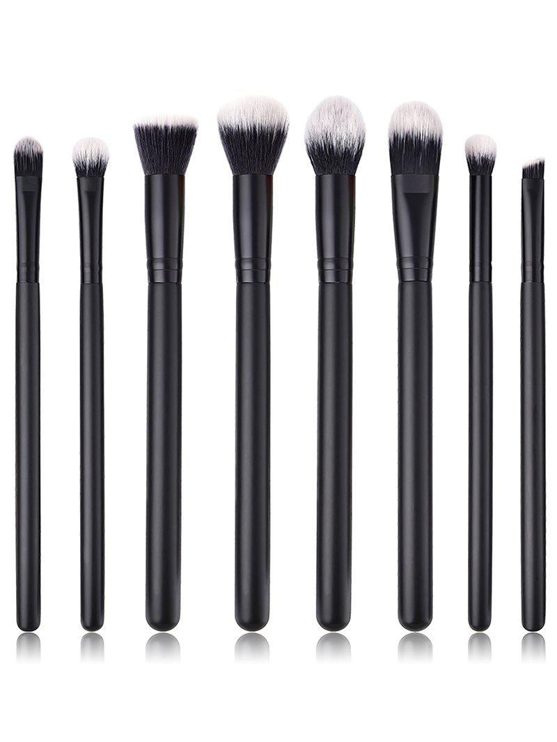 Unique 8Pcs Ultra Soft Fiber Hair Eyeshadow Blending Eye Makeup Brush Set