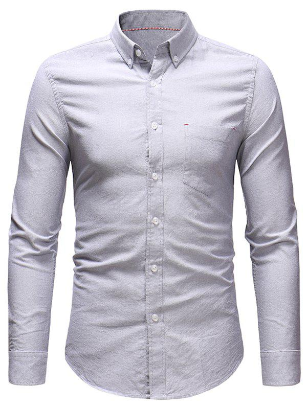 Outfit Solid Long Sleeve Casual Shirt