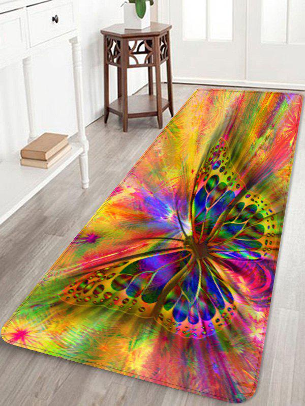 Fancy Colorful Butterfly Printed Skidproof Area Rug