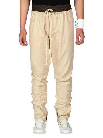 Drawstring Waist Contrast Color Pants
