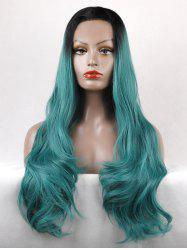 Long Free Part Wavy Colormix Lace Front Synthetic Wig -