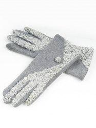 Color Block Full Finger Winter Gloves -