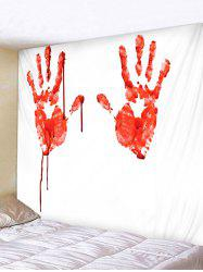 Wall Hanging Art Halloween Bloody Hands Print Tapestry -