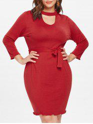 Plus Size Keyhole Bodycon Dress -