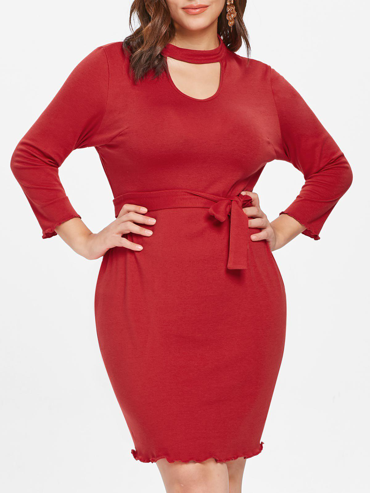 Outfits Plus Size Keyhole Bodycon Dress