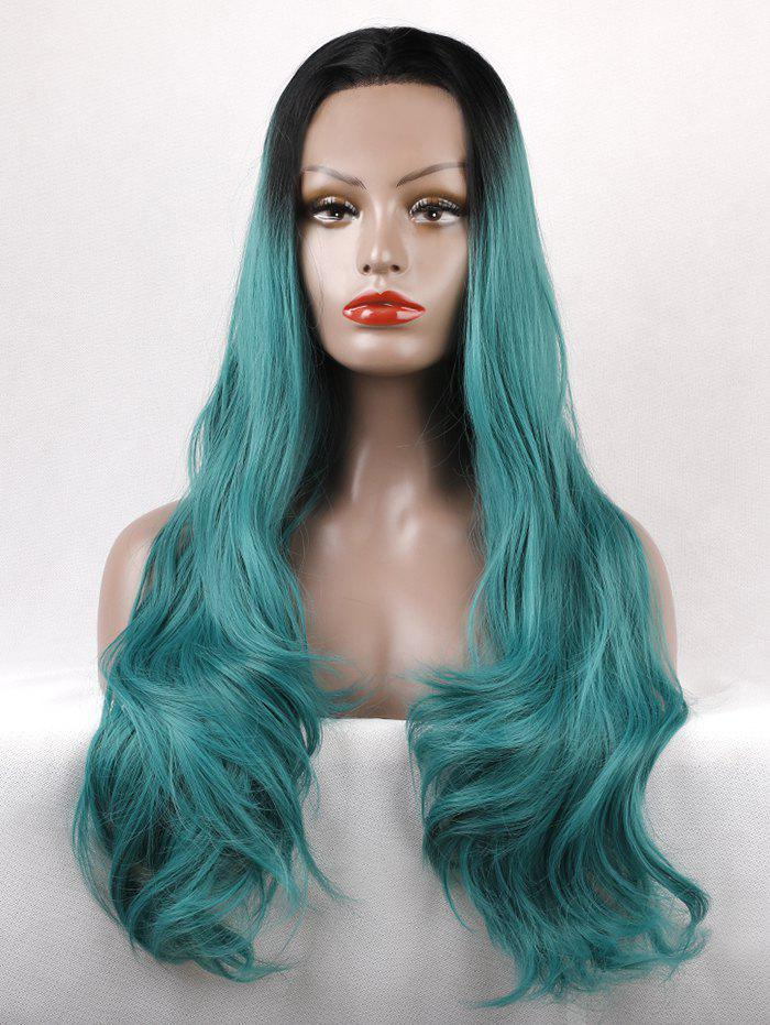 Shops Long Free Part Wavy Colormix Lace Front Synthetic Wig