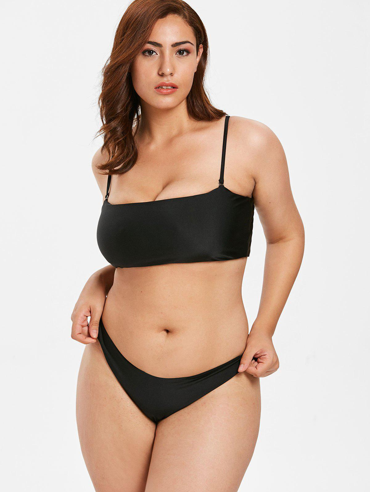 Latest Spaghetti Strap Plus Size Bikini Set