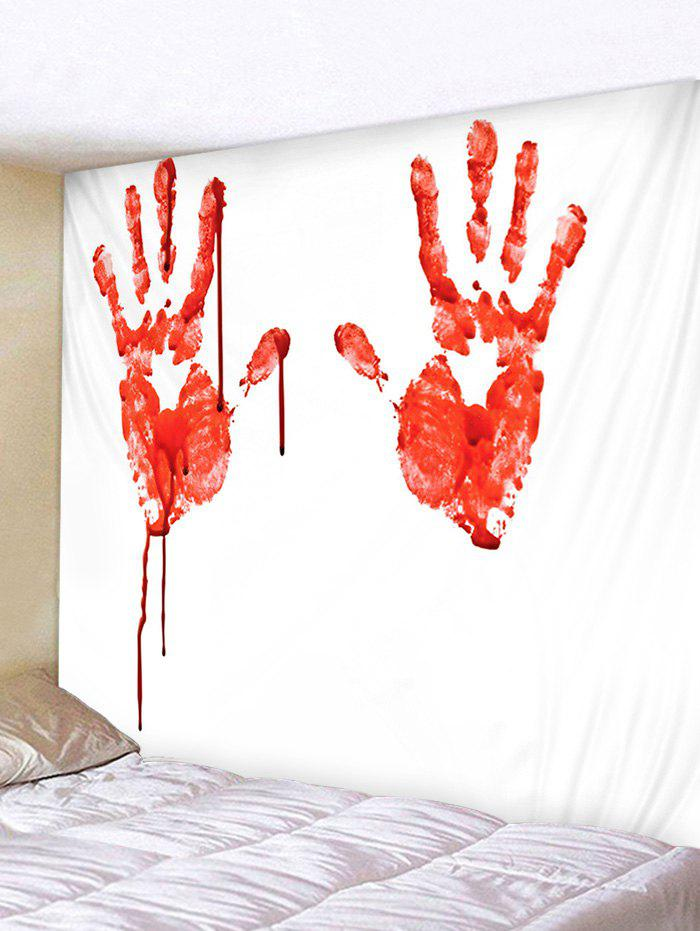 Fashion Wall Hanging Art Halloween Bloody Hands Print Tapestry