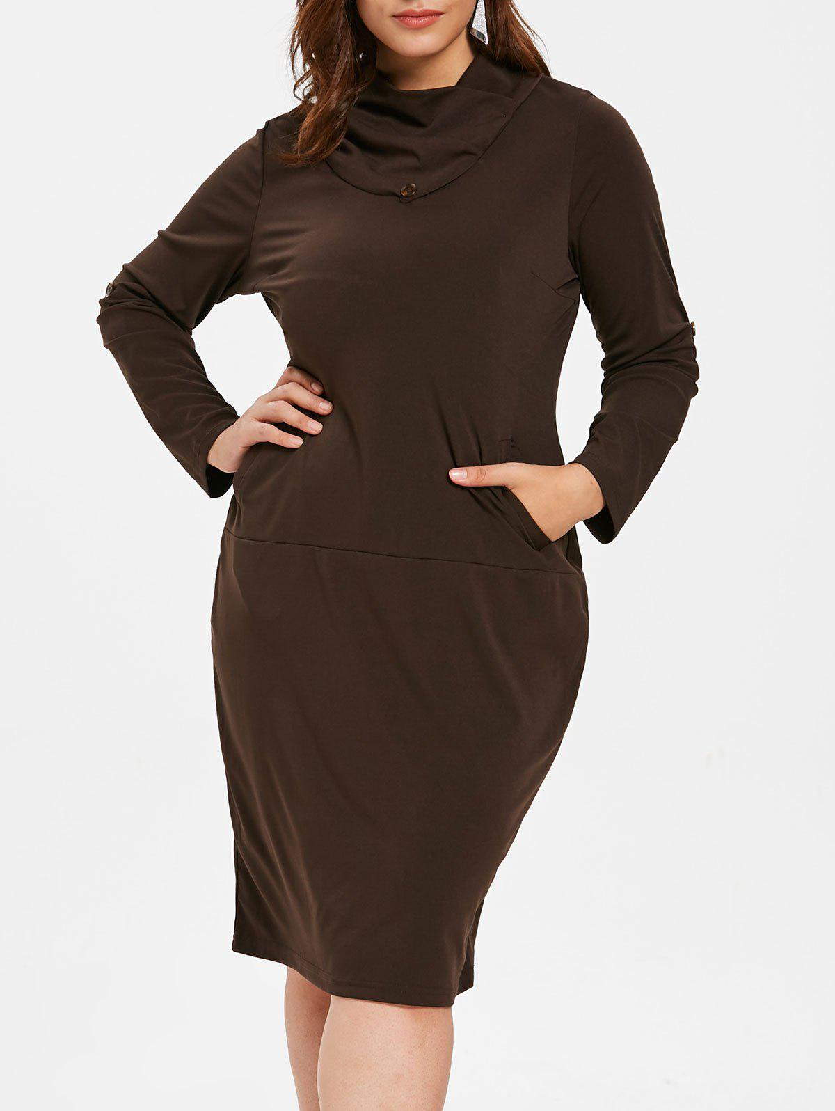 Fashion Plus Size Knee Length Bodycon Dress