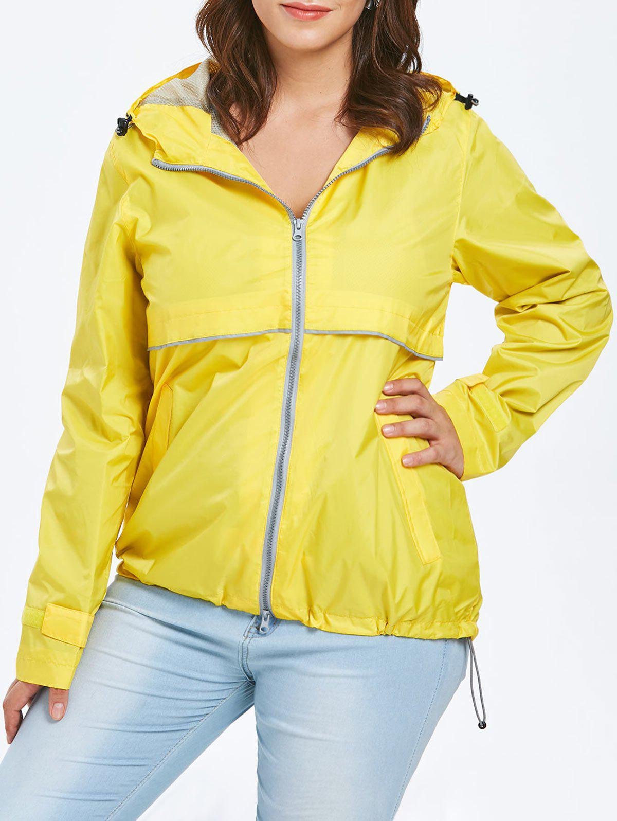 Affordable Lightweight Plus Size Hooded Zip-Up Jacket