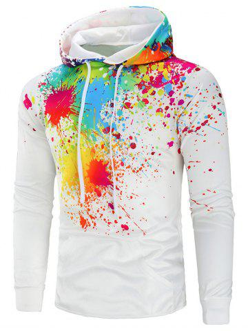 Colorful Paint Splatter Drawstring Hoodie