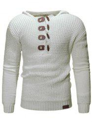 Claw Button Pullover Hoodie Sweater -