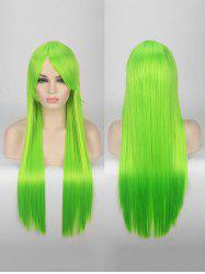 Long Side Bang Straight Colorful Party Bar Synthetic Wig -