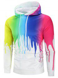 Colorful Paint Kangaroo Pocket Hoodie -
