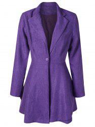 Single Button Peplum Blazer -