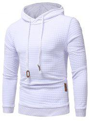 Applique Solid Pullover Hoodie -