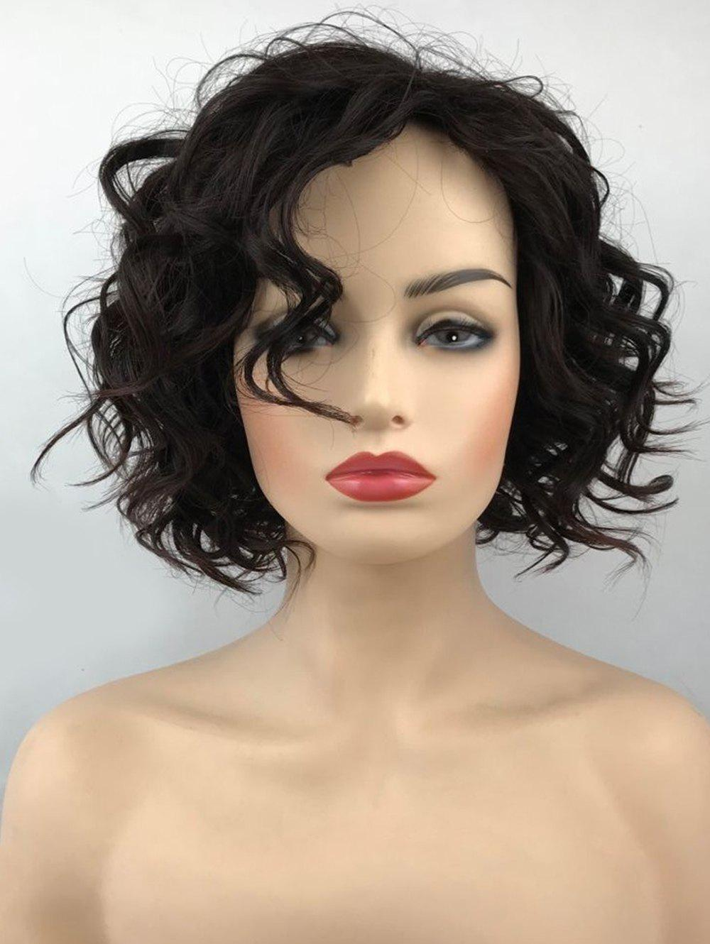 25% OFF] Short Inclined Bang Wavy Cpaless
