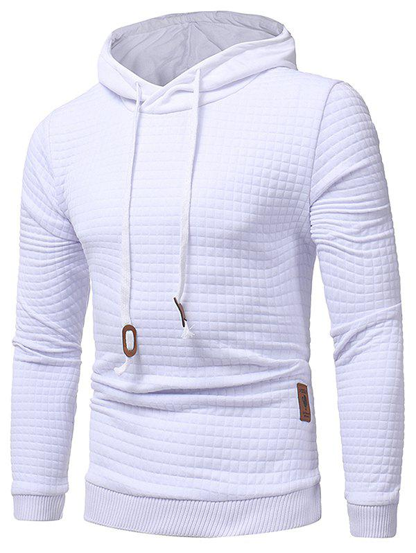 Fancy Applique Solid Pullover Hoodie