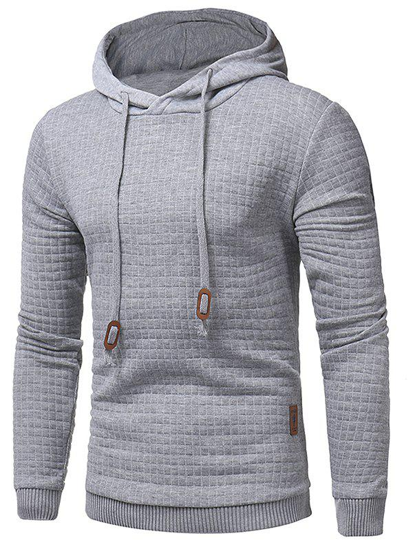 Latest Applique Solid Pullover Hoodie
