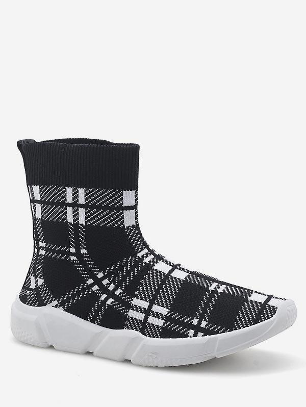 Online Stretch Knit High Top Platform Sneakers