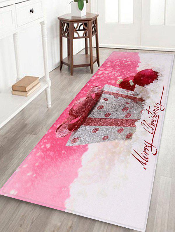 Unique Christmas Gift Balls Print Antiskid Area Rug Runner