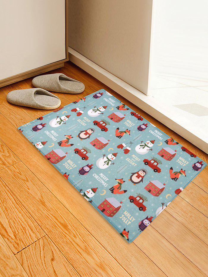 Online Christmas Ornaments Animals Snowmen Print Area Mat