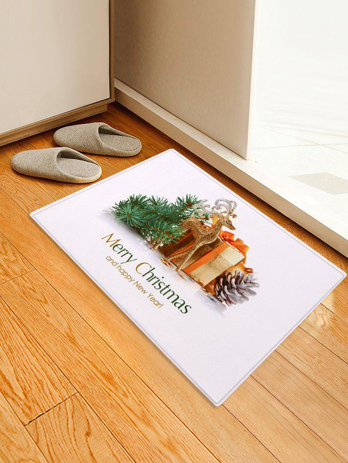 Shop Christmas Decoration Golden Elk Gift Print Floor Mat