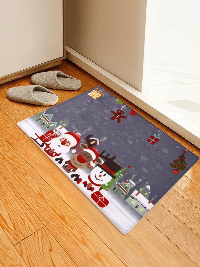 Trendy Christmas Decorations Printed Area Mat