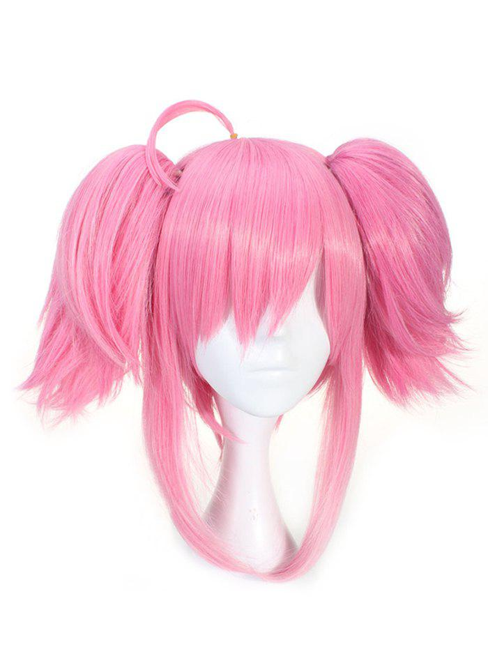 Sale Short Double Ponytails Straight Game Character Lux Cosplay Synthetic Wig