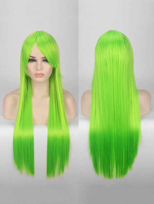 Cheap Long Side Bang Straight Colorful Party Bar Synthetic Wig